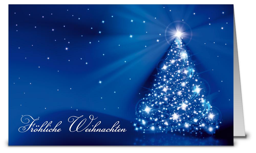 Blauer sternenbaum weihnachtskarte k13406 - Weihnachtskarten shop ...