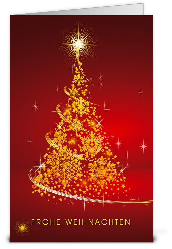 Glitzerbaum weihnachtskarten wk12150 - Weihnachtskarten shop ...