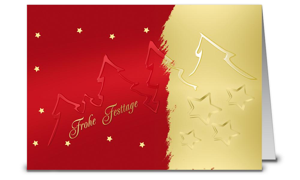 Gold rote weihnachtskarten din a6 wk12311 - Weihnachtskarten shop ...