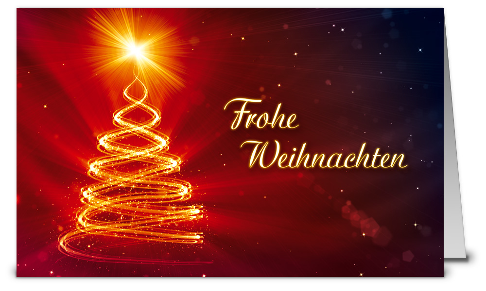 Leuchtender stern weihnachtskarten wk10125 - Weihnachtskarten shop ...
