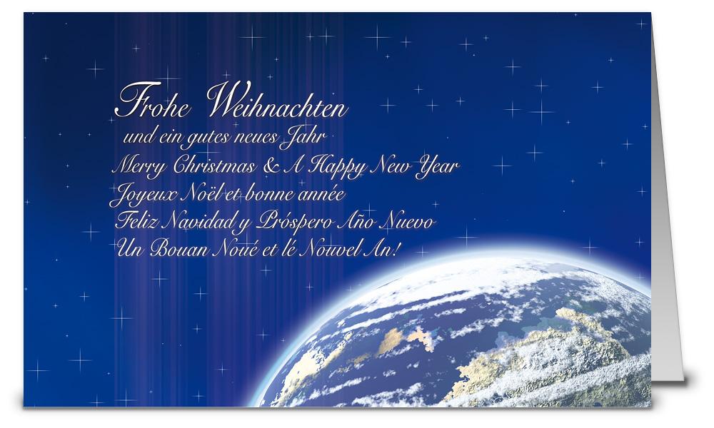Planet erde weihnachtskarten wk07034 - Weihnachtskarten shop ...
