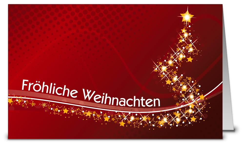 Leuchtbaum rot weihnachtskarte 916216 - Weihnachtskarten shop ...