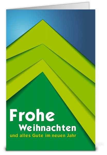 Grüner Scherenschnitt Weihnachtskarte K14410