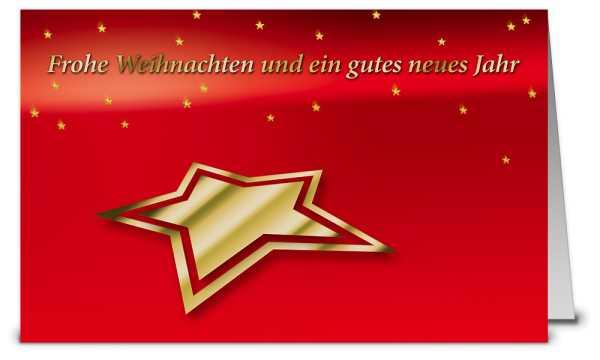 Goldener Prägestern Weihnachtskarten WK08514