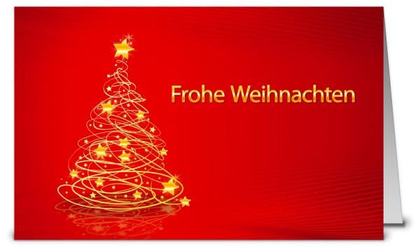 Rote Weihnachtskarte mit Text WK19234