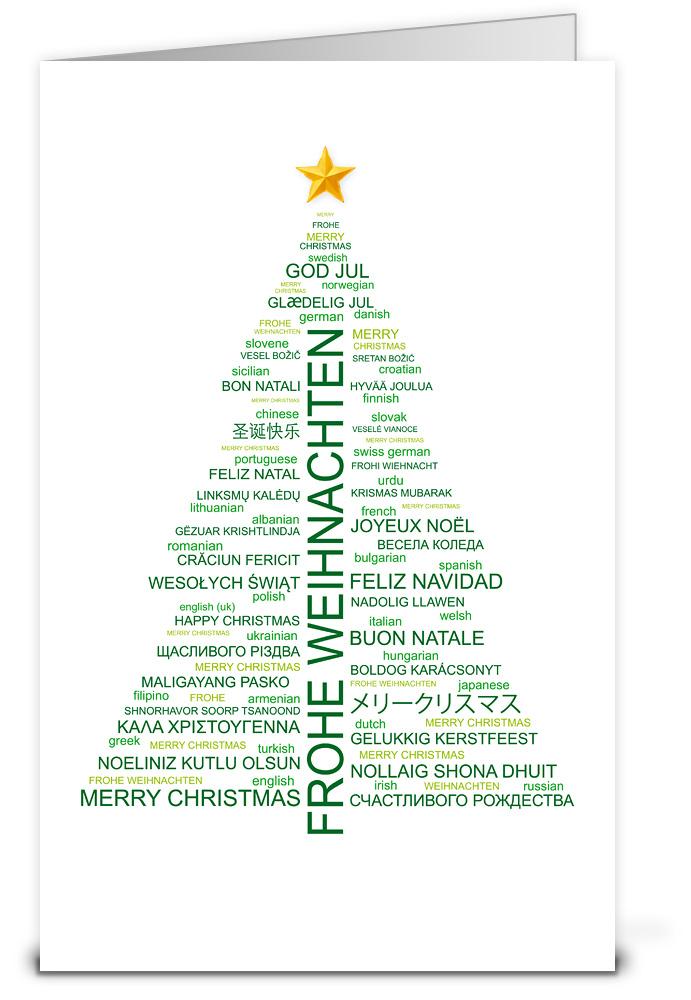 Weihnachtskarten mit weltweiten texten wk12156 - Weihnachtskarten shop ...