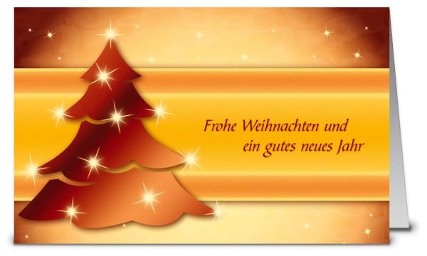 Brauner Weihnachtsbaum Weihnachtskarte K09361