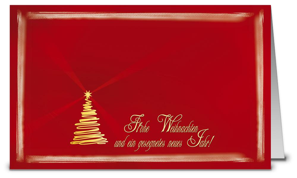 Goldener baum mit text weihnachtskarten wk07040 - Weihnachtskarten shop ...