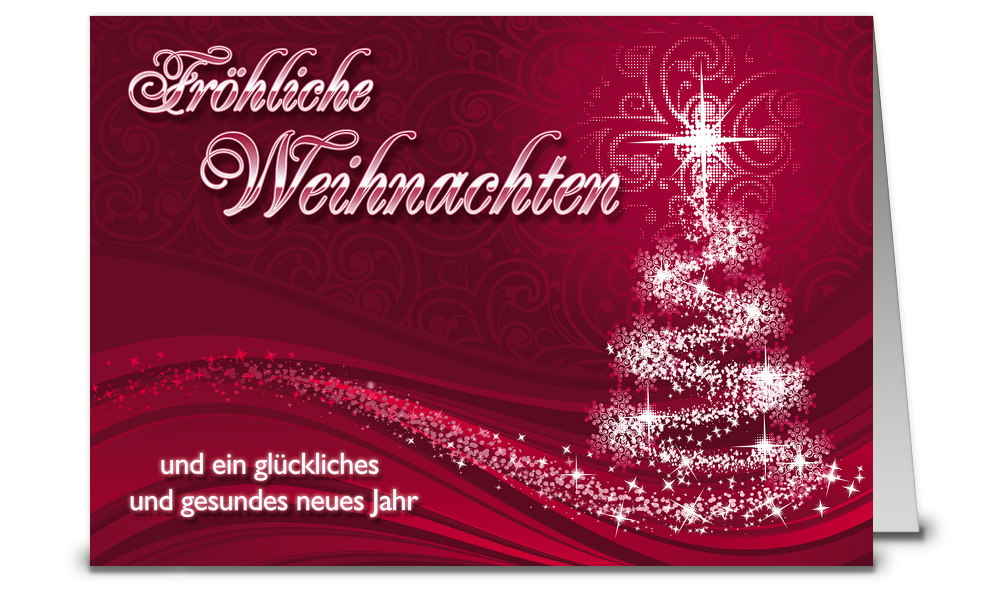 Weinrote weihnachtskarten din a6 wk12305 - Weihnachtskarten shop ...