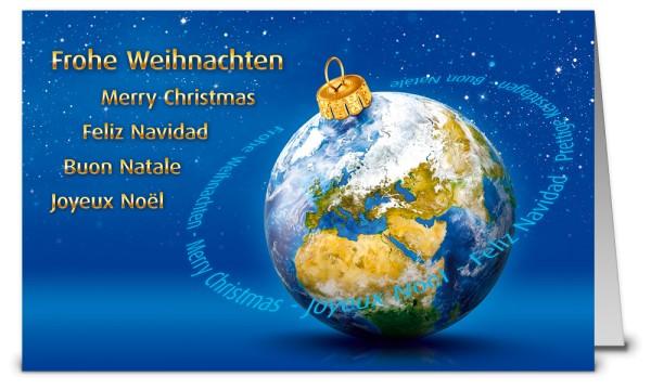 Internationale Weltkugel Weihnachtskarten WK19231
