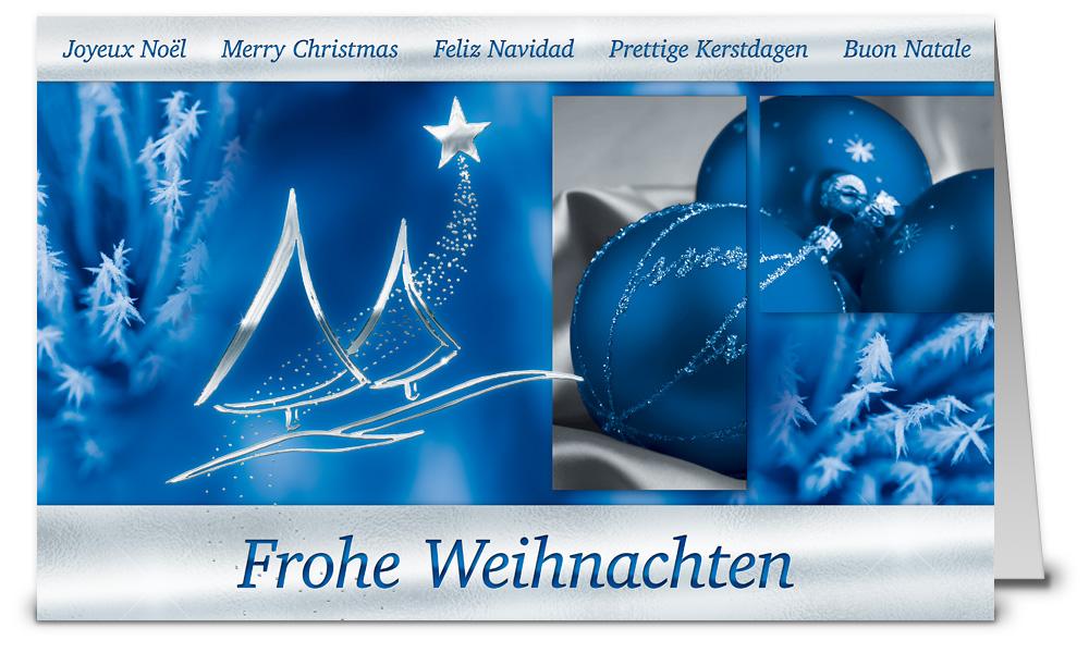 Christbaum collage mit kugel weihnachtskarte wk16191 - Weihnachtskarten shop ...