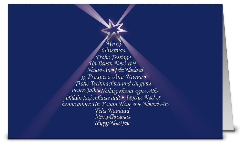Internationale weihnachtskarten in blau wk07021 - Weihnachtskarten shop ...