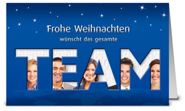 Blaue Team Weihnachtskarte WK19226